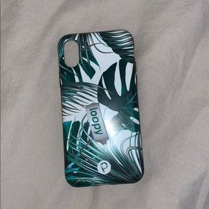 Loopy IPhone X Case - Tropical Leaves